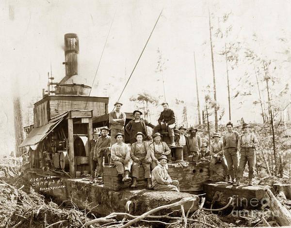 Photograph - Logging, Clemons Camp No. 3 No. 1, Circa 1920 by California Views Archives Mr Pat Hathaway Archives
