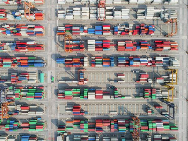 Hongkong Photograph - Logistic Hub by Anek Suwannaphoom