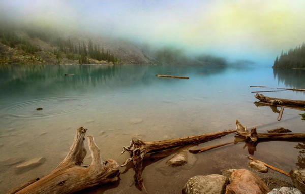 Photograph - Logs And Boulders Moraine Lake Banff II by Joan Carroll
