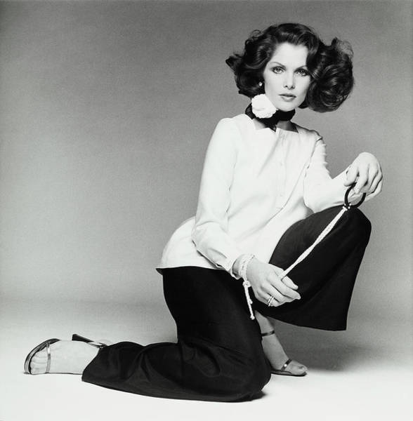 Photograph - Lois Chiles Wearing An Over-blouse And Pants by Francesco Scavullo