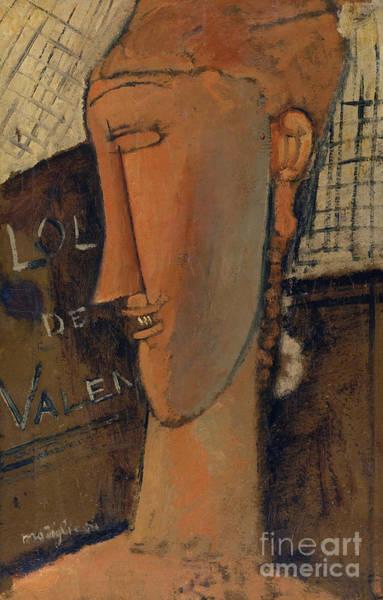 Wall Art - Painting - Lola De Valence, 1915 by Amedeo Modigliani