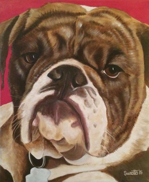 English Bulldog Painting - Lola by Suzette Castro
