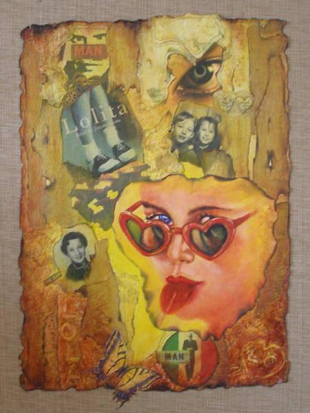 Thread Mixed Media - Lolita by Diane DiMaria