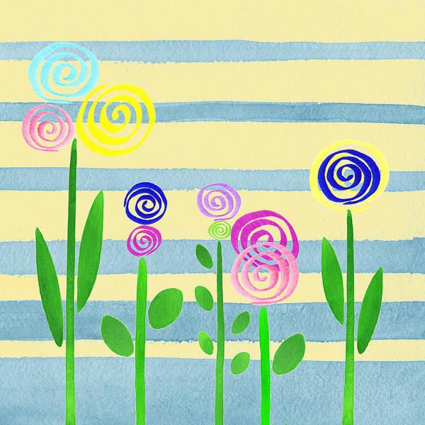 Painting - Lollipop Flower Bed by Irina Sztukowski