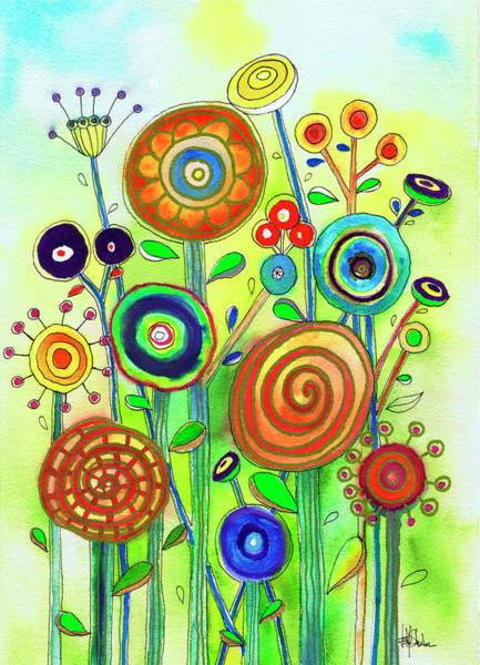 Phantasy Wall Art - Painting - Lollipop Garden by Isabel Salvador