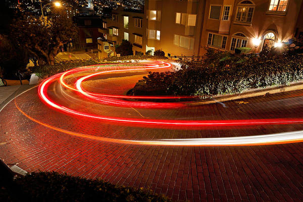 Photograph - Lombard Lights by Nicholas Blackwell