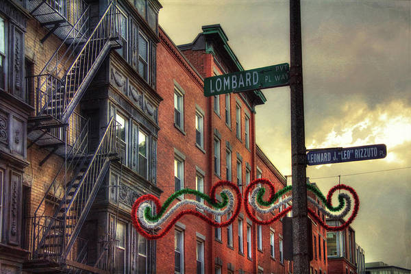 Photograph - Lombard Pl - Boston North End  by Joann Vitali
