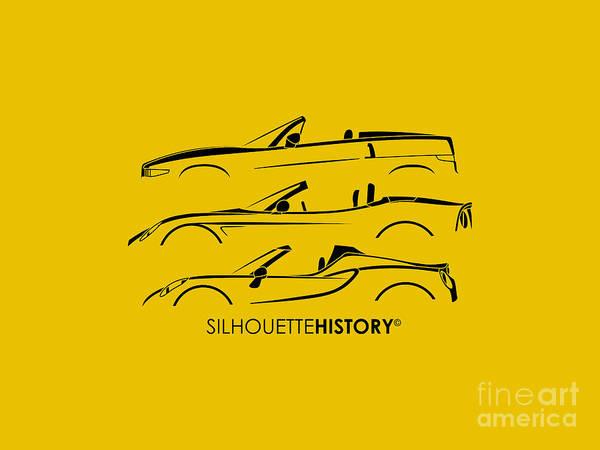 Wall Art - Digital Art - Lombard Roadster Silhouettehistory by Gabor Vida