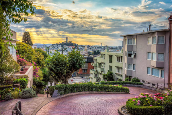 Photograph - Lombard Street In San Francisco by James Udall