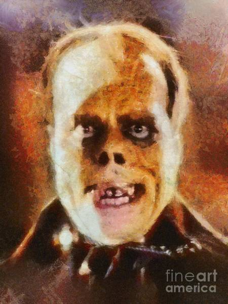Wall Art - Painting - Lon Chaney Sr, As The Phantom Of The Opera by Mary Bassett