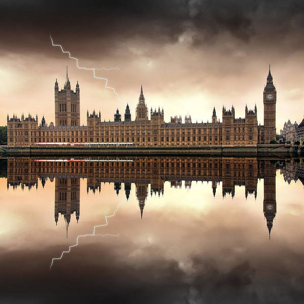 Bell Photograph - London - The Houses Of Parliament  by Jaroslaw Grudzinski