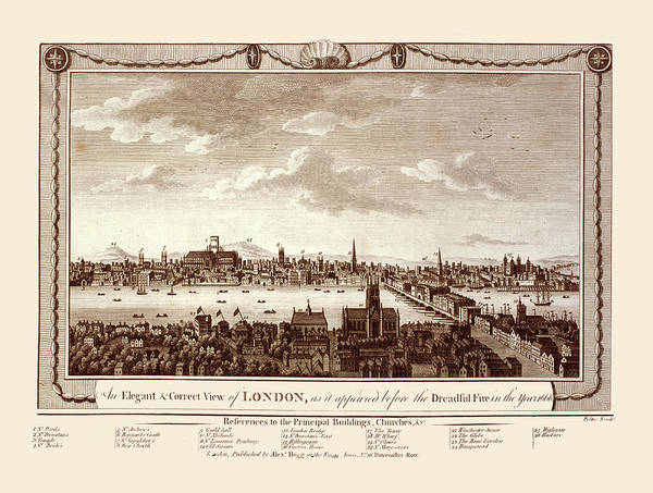 Photograph - London 1666 by Andrew Fare