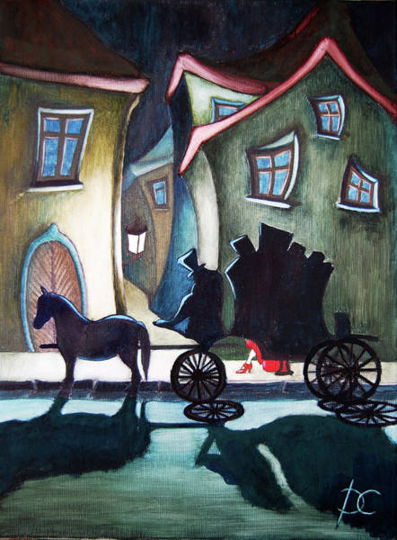 Special Offer Painting - London 1888 - Just Before Midnight by Dagmara Czarnota