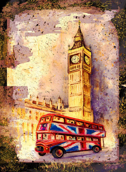 Painting - London Authentic Madness by Miki De Goodaboom