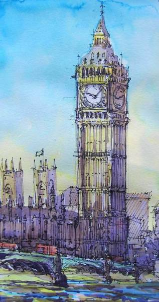 Painting - London-big Ben by Cameron Berglund