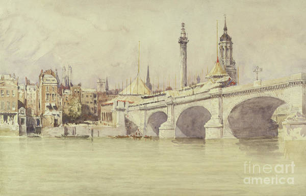 Wall Art - Painting - London Bridge, 1831 by David Cox
