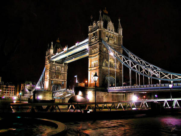 Painting - London Bridge At Night by Dean Wittle