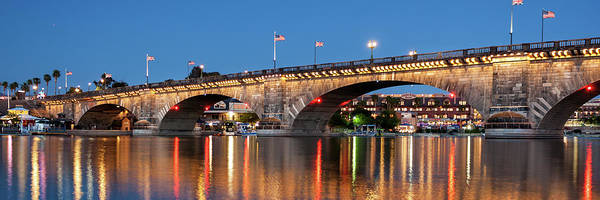 Photograph - London Bridge Twilight Panorama by James Eddy