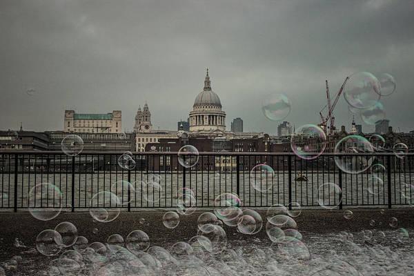Speech Bubble Wall Art - Photograph - London Bubbles by Martin Newman