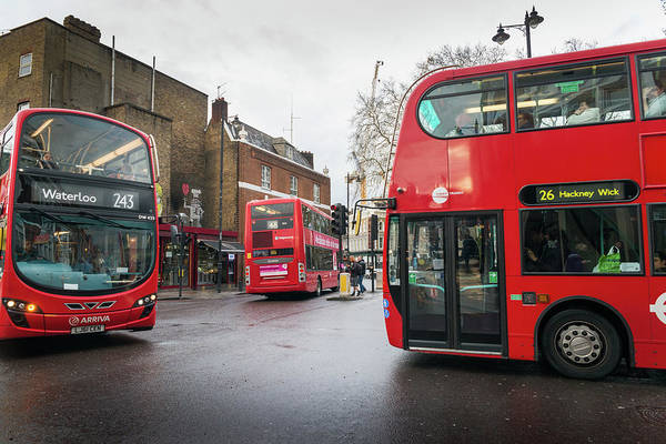 Photograph - London Buses by Alexandre Rotenberg