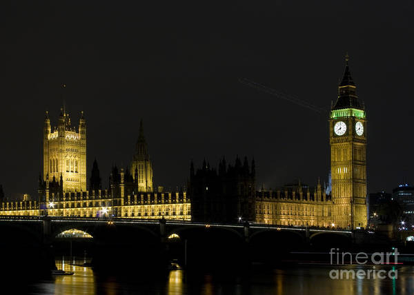 Wall Art - Photograph - London By Night by Angel Ciesniarska