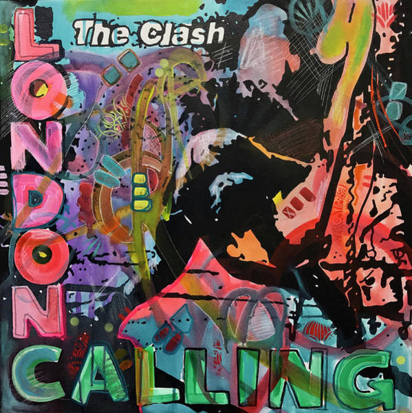 The Clash Wall Art - Painting - London Calling Redux by Dean Russo Art