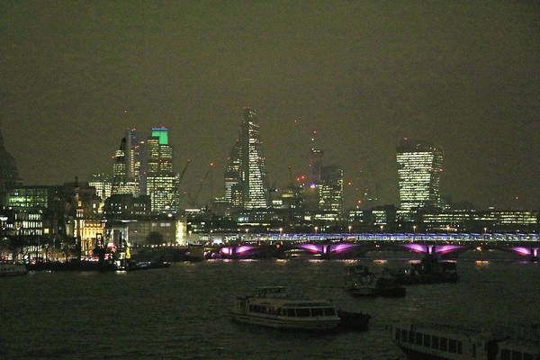 Photograph - London City At Night by Tony Murtagh