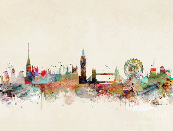 United Kingdom Painting - London City Skyline by Bri Buckley