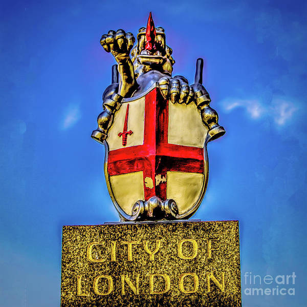 Photograph - London Coat Of Arms. by Nigel Dudson