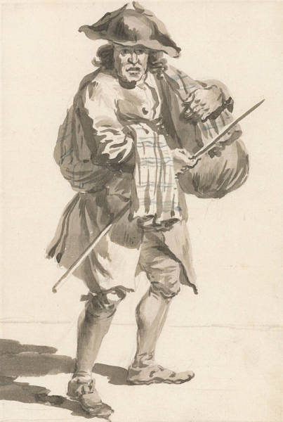 Painting - London Cries - A Man With A Bundle, Old Clothes by Paul Sandby