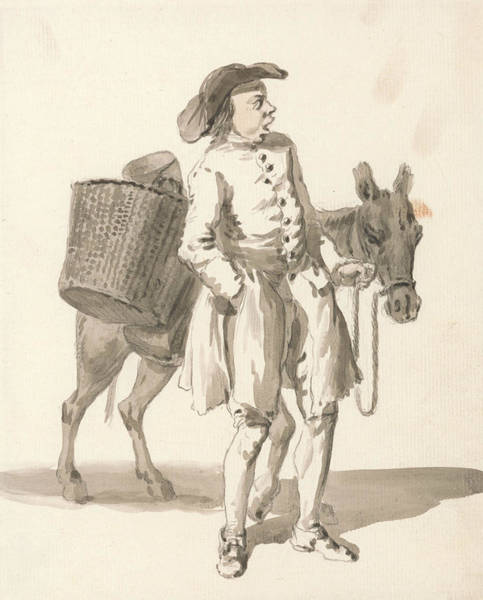 Drawing - London Cries - Boy With A Donkey by Paul Sandby