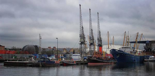 Logistics Photograph - London Docks by Martin Newman