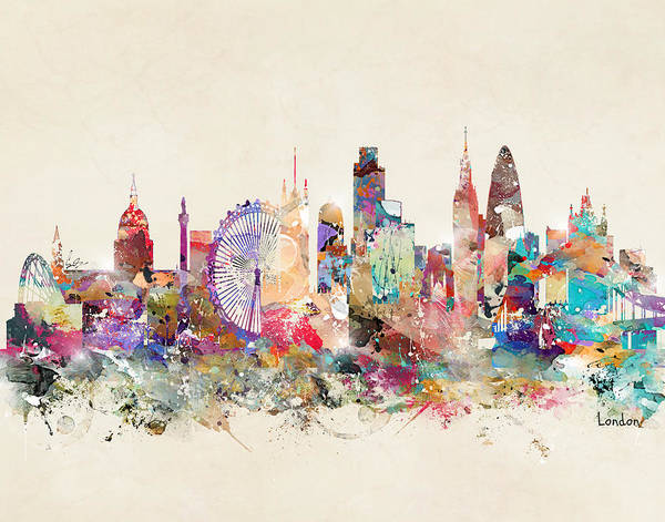 United Kingdom Painting - London England by Bri Buckley