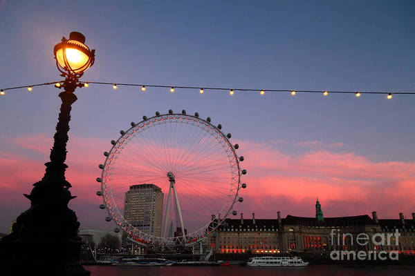 Photograph - London Eye And County Hall At Sunset by James Brunker