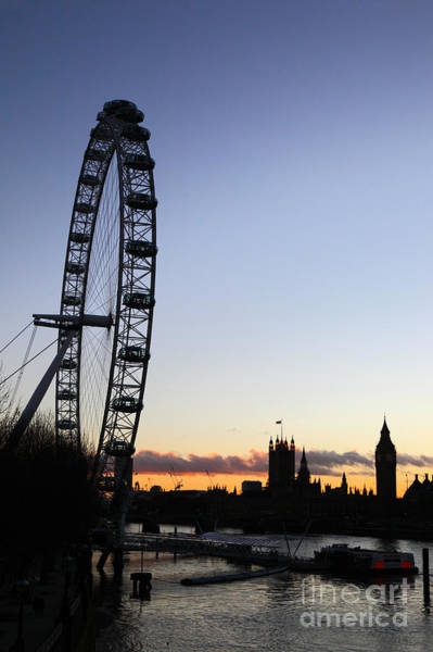 Photograph - London Eye And River Thames At Sunset by James Brunker