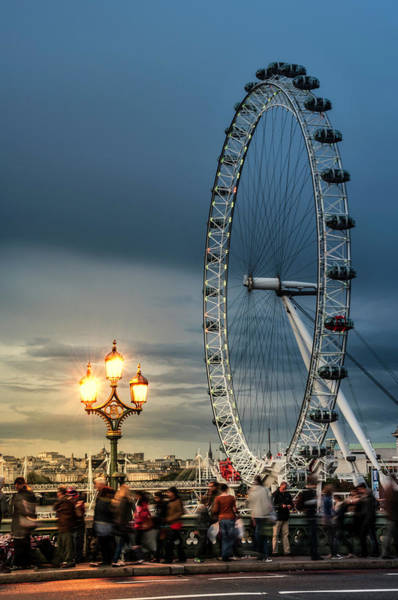 Photograph - London Eye At Dusk by Thomas Gaitley