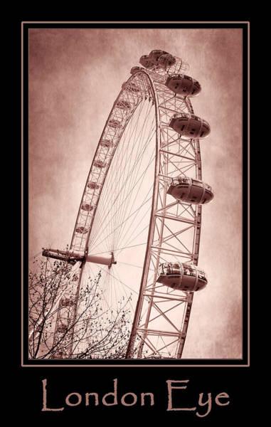 Photograph - London Eye Copper Poster by Joan Carroll
