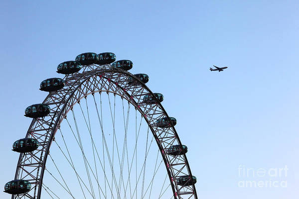 Photograph - London Eye Flypast by James Brunker
