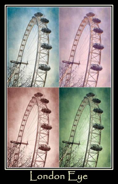 Photograph - London Eye Poster by Joan Carroll