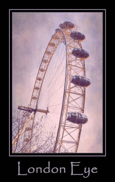 Photograph - London Eye Poster Pink by Joan Carroll