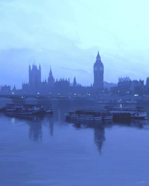 Shower Curtain Digital Art - London Fog by Paul Tagliamonte