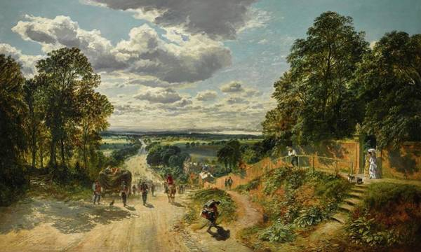 Wall Art - Painting - London From Shooters Hill by Samuel Bough