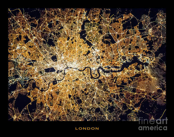 Wall Art - Photograph - London From Space by Delphimages Photo Creations