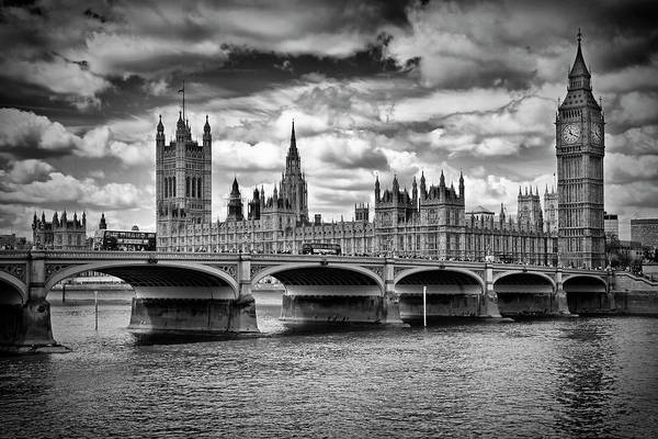 Wall Art - Photograph - London Houses Of Parliament And Westminster Bridge by Melanie Viola
