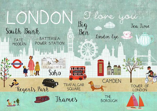 London I Love You Art Print