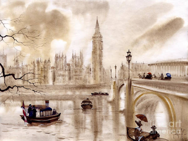 Wall Art - Painting - London II by Svetlana and Sabir Gadghievs