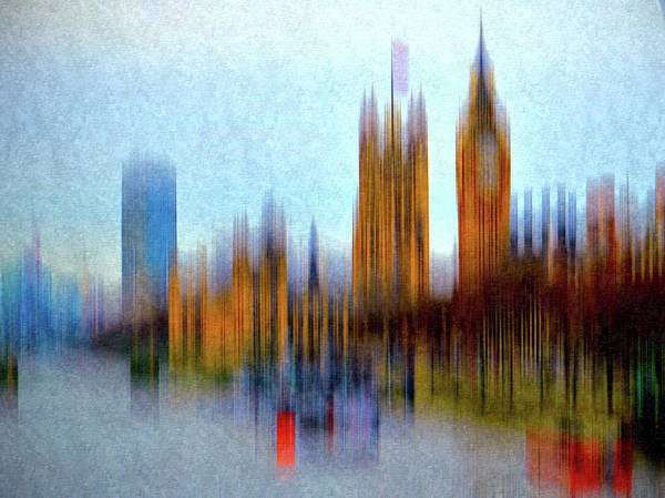 Wall Art - Photograph - London In Textured Motion by Sharon Lisa Clarke