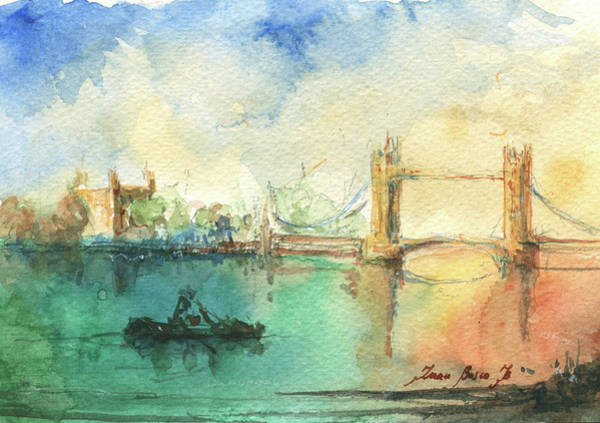 United Kingdom Painting - London by Juan Bosco