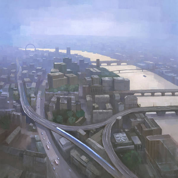 United Kingdom Painting - London, Looking West From The Shard by Steve Mitchell