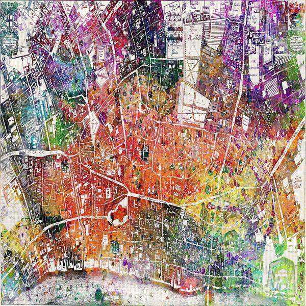 Wall Art - Painting - London Map  by Mark Ashkenazi